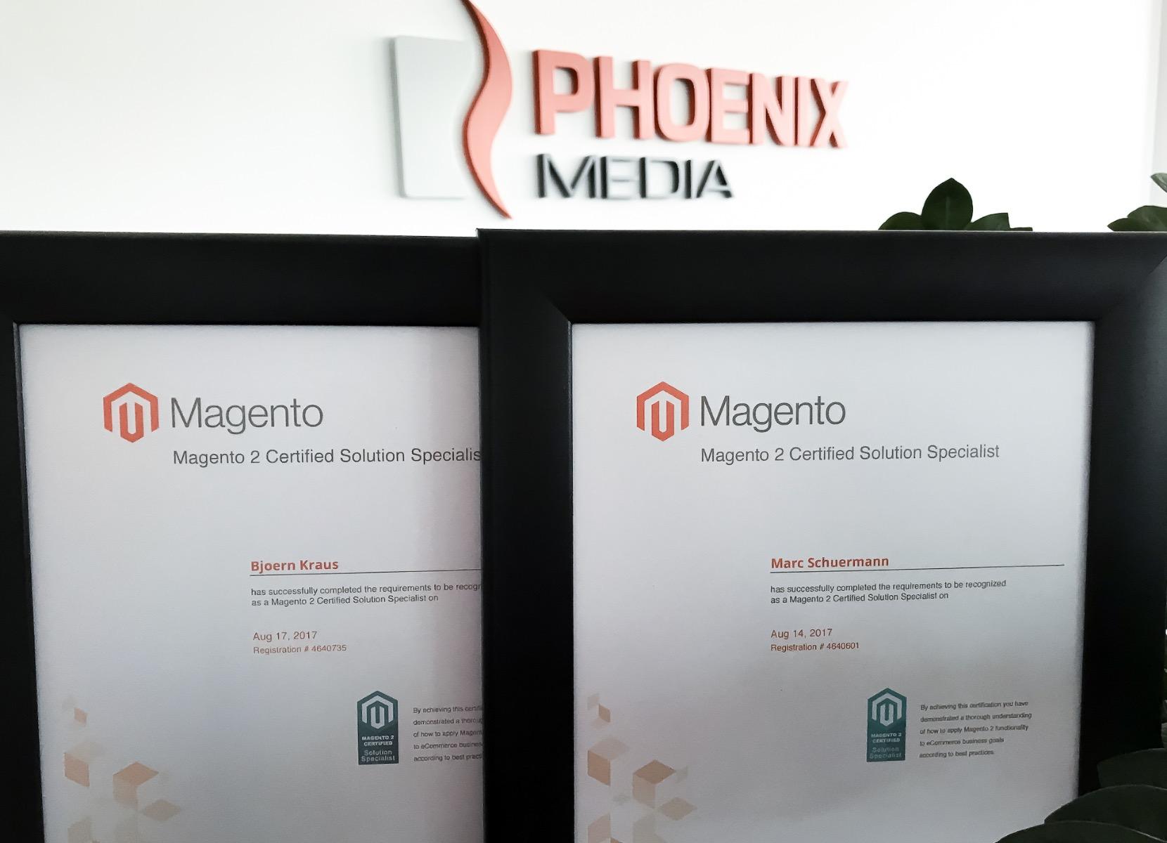 Magento 2 Solution Specialist Zertifizierung Marc Schürmann und Björn Kraus
