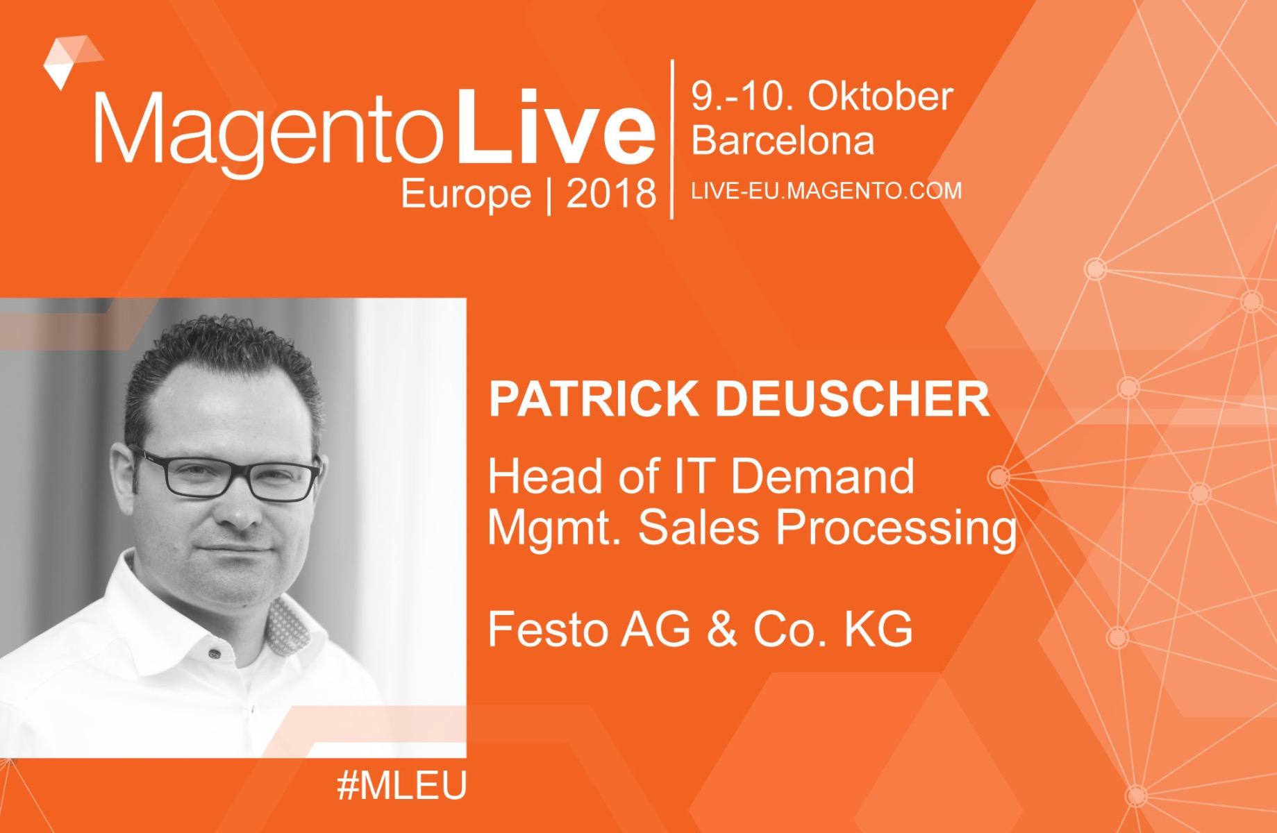 Patrick Deuscher auf der MagentoLive Europe