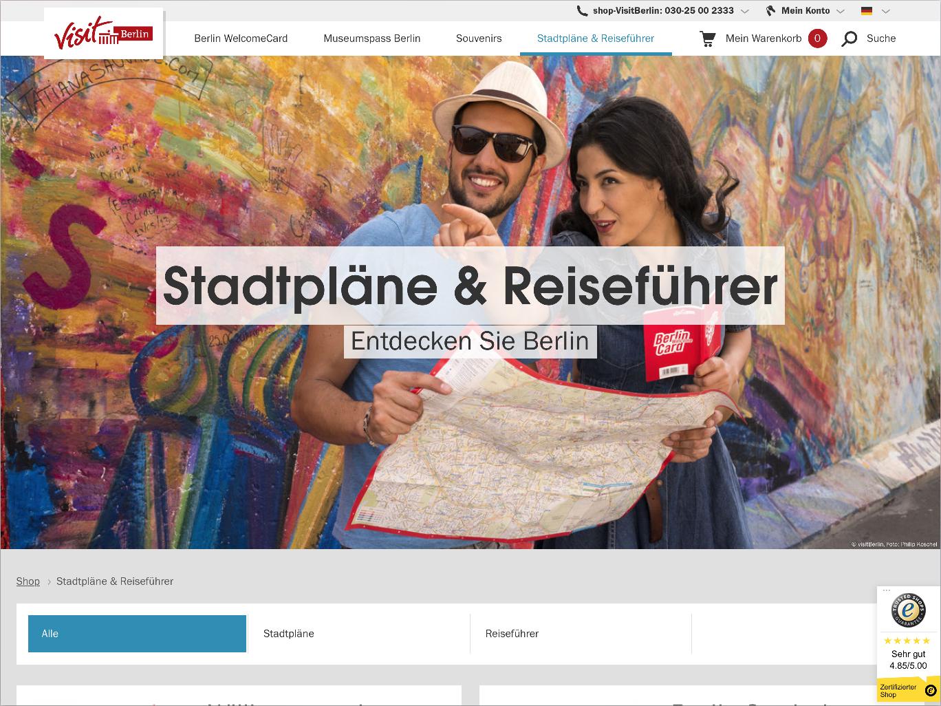 Der neue visitBerlin Online-Shop