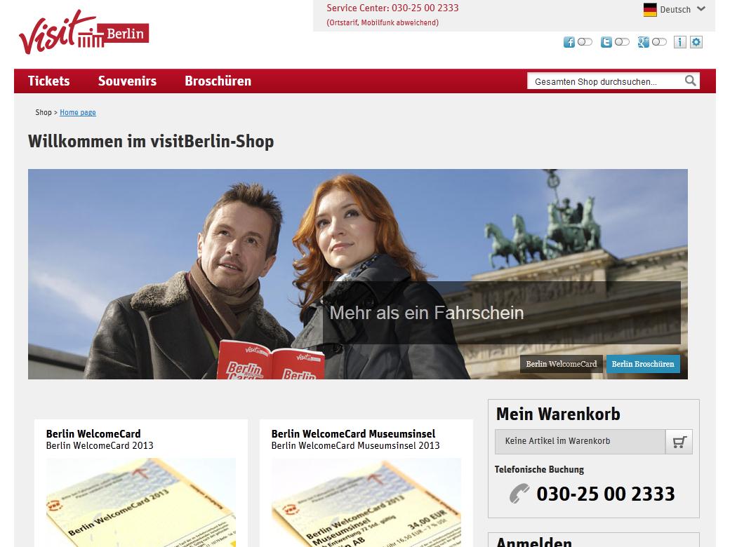 neuer Online-Shop für visitBerlin